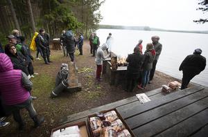 På Andersön blev det grillning och promenad längst med vattnet.