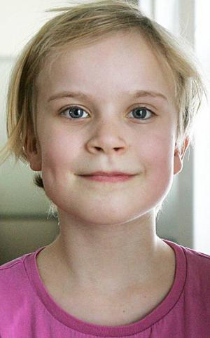 Irmelin Kärnlund,9 år, Pilgrimstad:– Berta, men jag vet inte varför. Det låter jätteroligt. Och kanske kan hon heta Bertelina. Jag är nöjd med mina namn, jag heter Anita också.