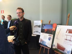 Lars Anfinset från Ett Ark arkitektur har gjort det vinnande förslaget i tävlingen om Svampens efterträdare.
