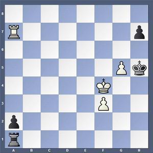 Veckans uppgift utgörs av partislutet mellan Ivkov och Arakhamia-Grant, Aruba 1992. Vit gör matt i två drag.   Lösning: 1.Ta6 Tb1 2.Th6 matt.