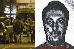 Bilden till vänster är från polisaktionen där Mohamed Belkaid dödades i tisdags förra veckan. Bilden till höger är på Mohamed Belkaid.