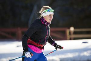 Johanna Andersson tränade under höstlovet.