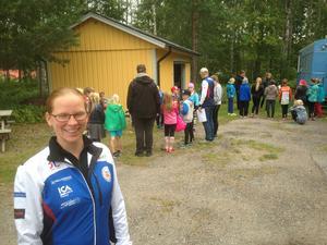 Mia Forslin är ansvarig ledare i Forsa OK för den orienteringsskola som denna vecka avslutar sommarlovet.