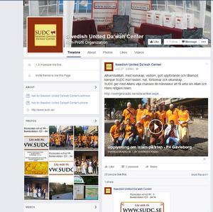SUDC har en egen Facebooksida där man gör uppdateringar om hur dawaharbetet går. Det mesta från sidan är från Gävle. Foto: Facebook