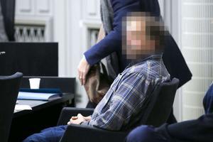 Mannen i 45-årsåldern, under rättrgången i Mora tingsrätt.