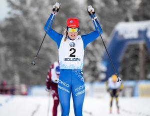 Stina Nilsson vann finalen i Gällivare. Foto: Ulf Palm/TT