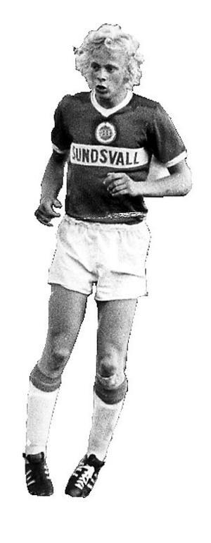 Anders Grönhagen i GIF Sundsvalls kostym 1975.
