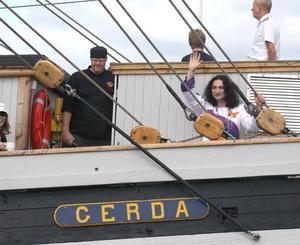 Gävlesonen Thomas di Leva deltog i invigningen av marinfestivalen.