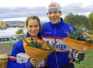 Segrarna i mixed-dubbel Isabella Niss och Thomas Nääs.