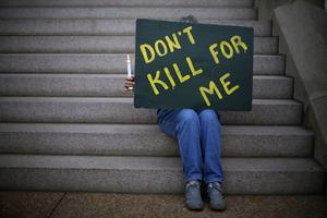 Protest mot dödsstraff i USA