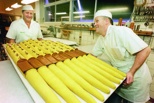 Den största tårtan som Gunnar Sjödahl någonsin bakat mättade 400 personer då orgeln invigdes i nya kyrkan i Östersund.