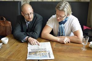 Artikeln i ST om byggstoppet på Alnö fick blodtrycket att stiga hos företagarna Magnus Sjödin och Ruben Wetind.