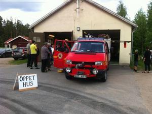 Kårböle räddningsvärn demonstrerade sin utrustning på nationaldagen.