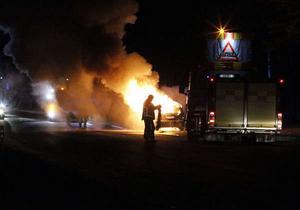 Bilbrand i Sifferbo, Gagnefs kommun, på fredagskvällen.