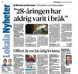 Ur tisdagens Gefle Dagblad.