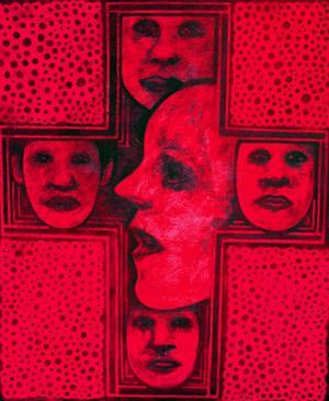 ...tillsammans med Anders Redin, som leker med ansiktsformer