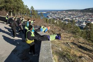 Träning med utsikt. Outmore erbjuder pass på norra berget i Sundsvall.