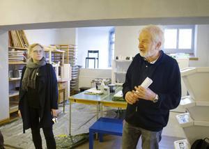 Emelie Lundin, Studieförbundet Vuxenskolan och Niels Hebert, Föreningen Kulturum.
