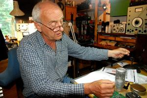Göran Ehrlund har ständigt nya idéer som han arbetar på.