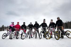 De tävlar i downhill och tränar varje helg. För första gången var Rättviks Slalombacke öppen för enbart freerideåkare.