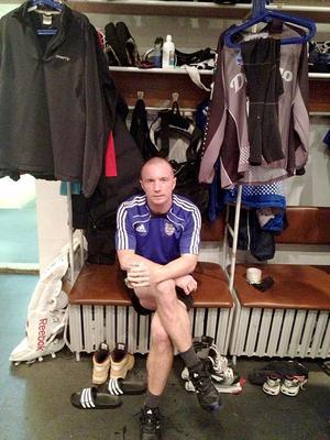 Bandyarbetare Anders Svensson trivs på nya jobbet.