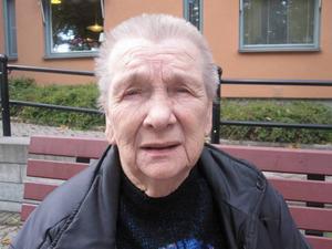 Ritva Rasmusson, 72 år, pensionär, Öster, Gävle:– Jag tror inte att folk är rasistiska, utan mer att de är rädda för det som kommer utifrån.