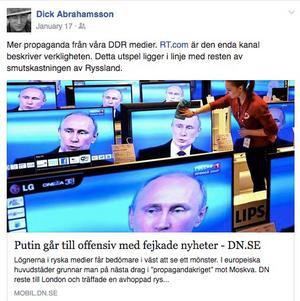 Att en politisk sekreterare i riksdagens justitieutskott anser att svenska medier är DDR-medier får anses som anmärkningsvärt.