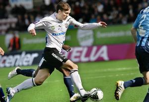 Marcus Astvald ställde med sina löpningar till stora bekymmer för Djurgården.