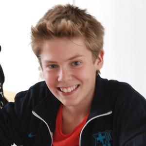 Victor Cegrell, 14 år:- Överraskande gott! Jag har inte smakat vildsvin tidigare.
