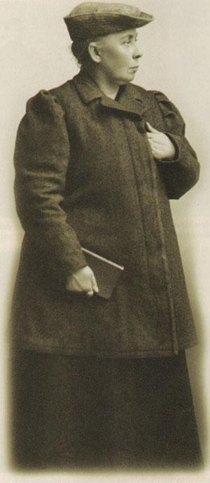 Kata Dalström fotograferad 1910.