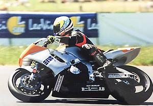Daniel Välitalo var en komet under sin korta karriär i roadracing, här på sin Yamaha R6, 600 cc.