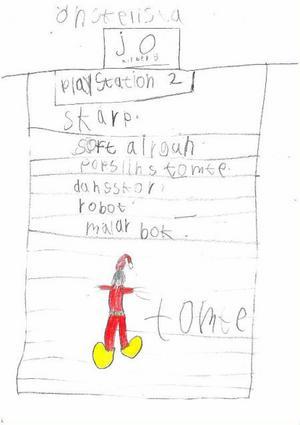 Av Jo Kilberg, 8 år.