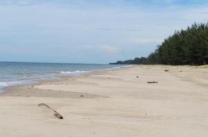 På Borneo finns det härliga stränder.