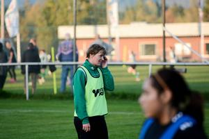 Josefin Larsson, Själevad, har alltid haft näsa för målet. Med sina sex mål är hon främst av distriktets målskyttar i division 1 Norrland.