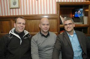 Pitchers. Anders Lindgren, Nils Österberg och Peter Boudin.