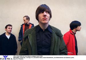 Refused släppte sitt sista album 1998, samma år som de splittrades. Från vänster: Kristofer Steen, David Sandström, Jon Brännström och Dennis Lyxzén.
