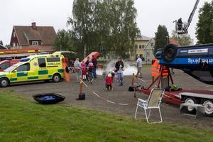 Uppvisning. En ambulans fanns bland attraktionerna.Foto: Ingrid Patring