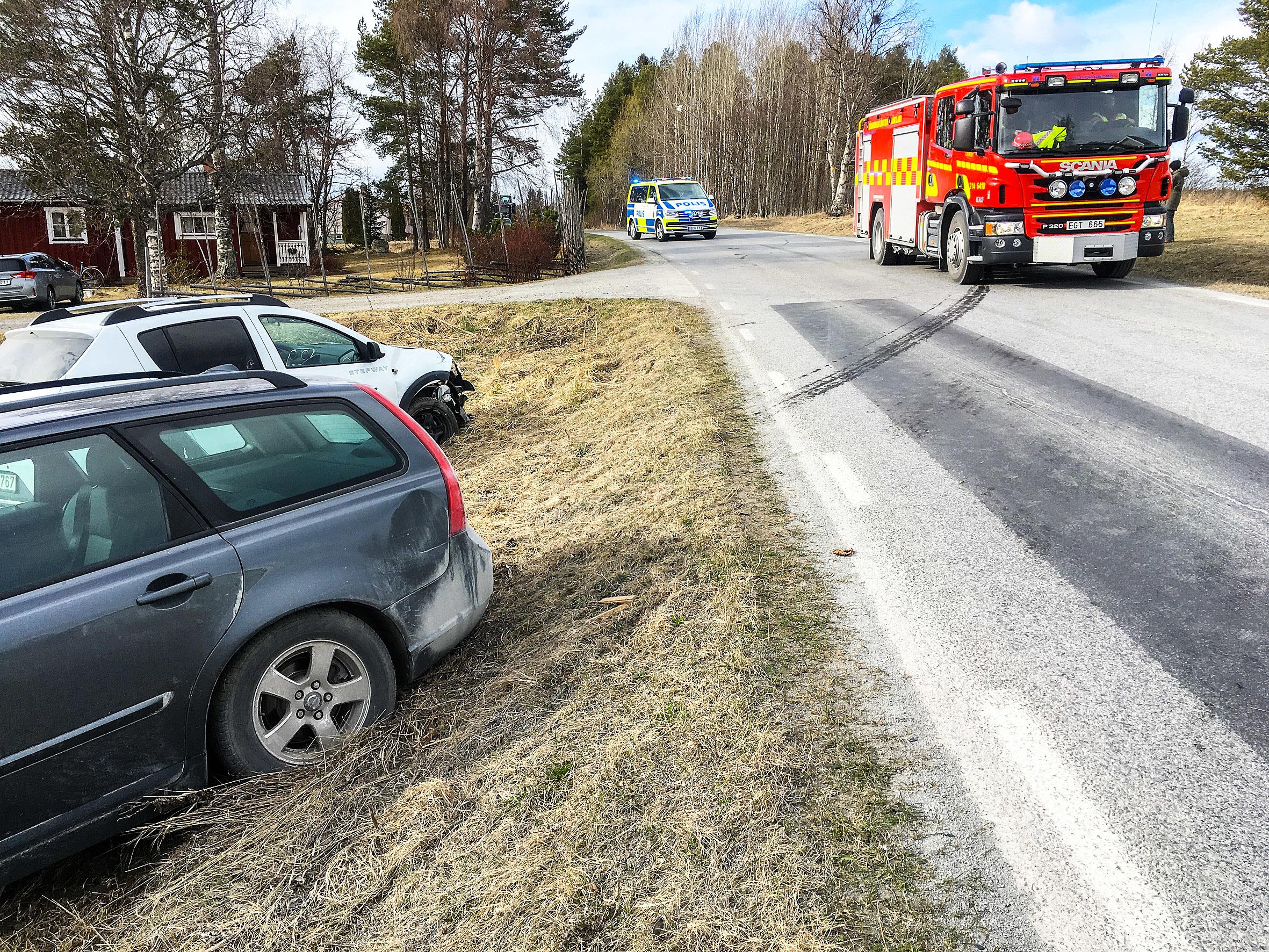 Skadade forda till sjukhus