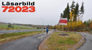 Här är en bit av den nya cykelvägen mellan Ornäs och Uvbergsviken.