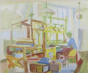 Birger Mörk målade en ljus och varm