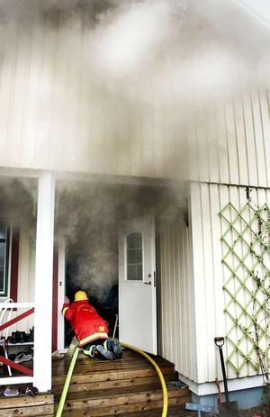 En villa på Granberg blev svårt rökskadad.