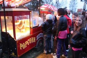 Gott med Popcorn mot slutet av kvällen!