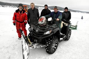 Brunnsjöns Vintervänner har ett 90-tal medlemmar. Här är några av de aktiva i föreningen, från vänster: Nils Lindgren, Lennart Fyrk, Hans Pernsjö, Rune Bernhardsson och Kent Engström.