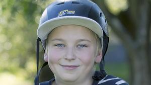 Lucas Gravningsbråten, 11 år, kickbikeåkare, Fagersta: – Jag tycker att det är bra, då slipper man åka bil så långt för att kunna åka. Till Vilhelminaparken kan jag ju åka själv, utan att behöva få skjuts.