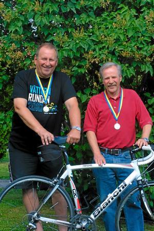 Benny Bennström och Bertil Bodin - två riktiga cyklister. Foto: niclas Bergwall