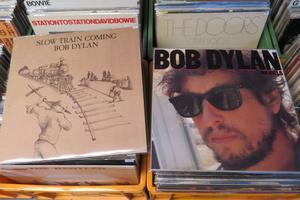 Det enda som fanns kvar på Söders Skiv- Och Prylbörs på Dylan-vinylfronten.