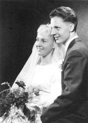 Anita och Jan Söderström, Gävle, firar 50-årig bröllopsdag i dag.