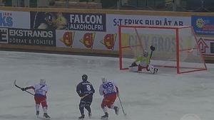 Ett sent straffmål från Tellus Elias Engholm gav 4–4 mot Kalix. Foto: Mittmedia.
