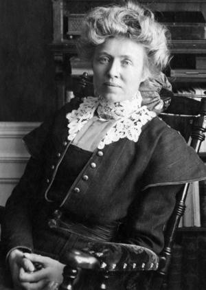 Frida Stéenhoff (1865-1945) runt 1900.