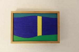 Månsken över Ångermanälven. Målning av Curt Breiland.